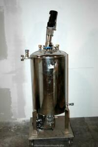 Pope Alloy Products 35g 140l Jacketed Stainless Steel Tank Vessel Agitator