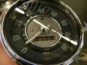 Restored 1956 Vw Bug Speedometer Clear Needle