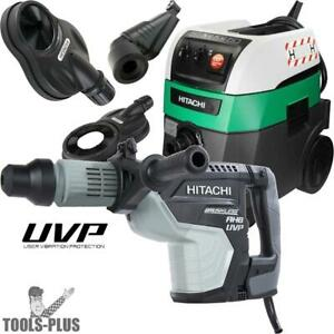 Hitachi Dh45mey 1 3 4 Sds Max Uvp Rotary Hammer W hepa Vac dust Collection New