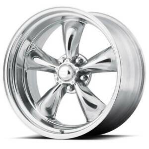 17x7 American Racing Torq Thrust Ii 1 Pc 5x120 65 Et0 Polished Wheels set Of 4