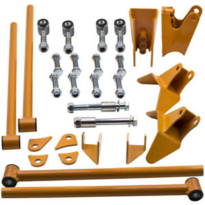 Fit Chevy S10 Triangulated 4 Link Kit Suspension Drag Brackets 1994 1998 99 04