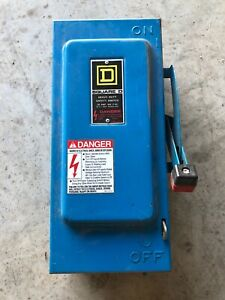 Square D H361 Disconnect Safety Switch 30a 600v Series F05 Type 1