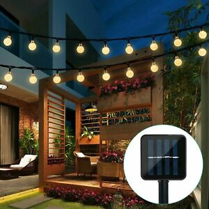 Solar Powered 30 LED String Light Garden Path Yard Decor Lamp Outdoor Waterproof $19.95