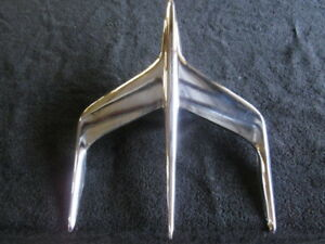 1955 56 Mercury Hood Ornament Bird Really Nice Early Take off Oem Part