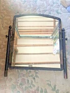 Vintage 1930s Simmons All Metal Dresser Mirror Mirror Only