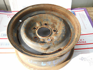 1959 1963 Oldsmobile 14 Wheel Rim Original Straight 5x5 Bp 6 W 4 1 4 Bs