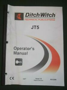 Ditch Witch Jt5 Directional Drill Operator Operation Maintenance Manual Book
