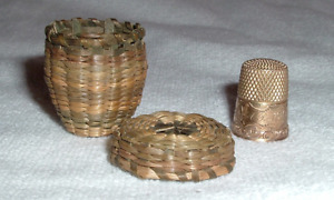 Solid 14k Gold Size 7 Thimble Original Sweet Grass Basket Ketchum