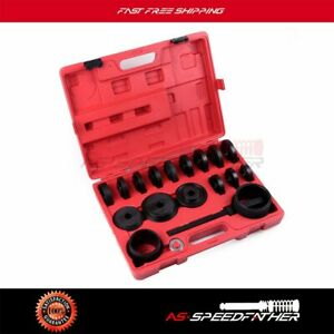 Wheel Drive Bearing Press Kit Puller Pulley Hand Tool Removal Adapter Set Front