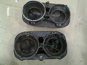 1958 1959 1960 Ford Pickup Truck Headlight Mount Bucket Pair Original 58 59 60