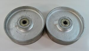 Lot Of 2 8 Cast Iron Trew Wheels Ss08020g4 1600 Lbs Capacity Caster 2 Wide