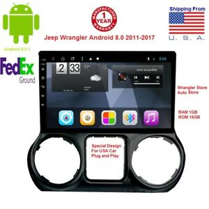 10 2 Android Car Stereo Gps Navigation For Jeep Wrangler Radio Head Unit