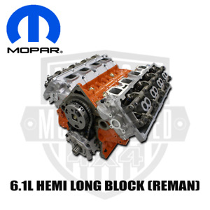 Mopar 6 1l Hemi Long Block Engine