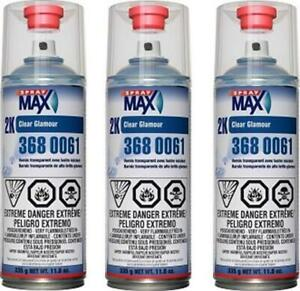 3 Cans Of Usc Spraymax 3680061 2k Clearcoat Usc 3680061