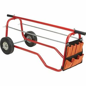 Ironton Wire Caddy Cart With Storage Bag 330 lb Capacity