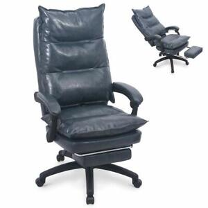 Ergonomic Executive Pu Leather Office Chair Computer Sofa Chair Reclining Chair