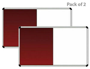 White Board And Notice Board Combination Of 2 In 1 Board 3 X 1 5 Feet Pack Of 2