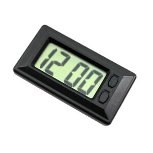 Automotive Lcd Digital Clock Easy To Read With Adhesive Pad