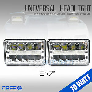 5 x7 140w Cree Led Headlights Sealed Beam Clear High low Beam Drl High Power