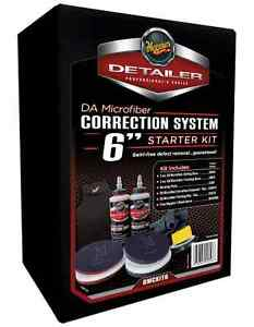 Meguiar S Da Microfiber Correction Automotive Paint System 6 Kit Free Apron