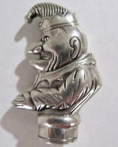 Antique Vesta Match Safe Mr Punch Clown Silver 925 Has Striker 50 9g