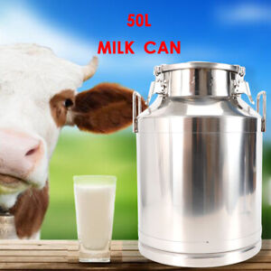 New 50l 13 25 Gallon Stainless Steel Milk Can With Lid Beer Wine Making Usa