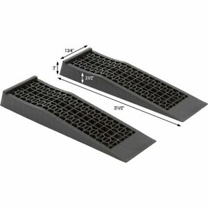 Iscount Ramps 6009 V2 Low Profile Plastic Car Service Ramps 2 Pack New