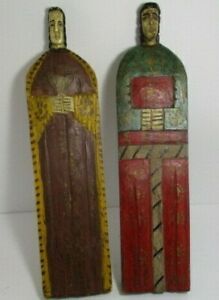 Hand Carved Hand Painted Wooden Statues