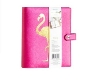Pink Flamingo Planner Agenda Cover 6 Ring Recollections Creative Year 35 Pcs A5
