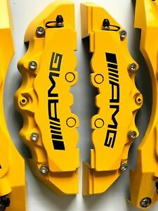 Yellow Amg Brake Caliper Cover For Mercedes 11 F 9 R Plastic C200 C250