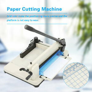 A4 Paper Guillotine Cutter Trimmer High Speed Steel Blade Cutting Machine