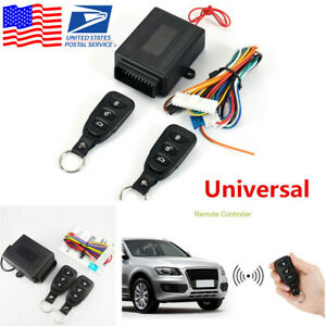 Car Remote Control Central Kit Door Lock Locking Keyless Entry System Usa Stock