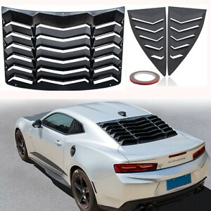 Quarter Side Rear Window Louver Scoop Accessories Kit Fit Chevy Camaro 2010 2015