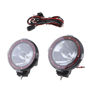 2pcs 7 100w 12v Xenon Hid Work Light Spot Beam Atv Suv Truck Rally Driving
