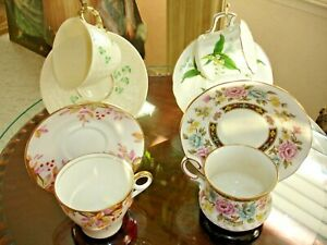 Tea Cup And Saucer For Four Rosina Bell Hammersley And Belleek