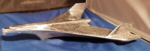 1952 52 Ford Car Hood Ornament Jet Airplane Wing Chrome