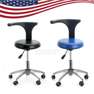 Ups Dental Dentist Doctor Assistant Stool Adjustable Mobile Chair Pu Leather