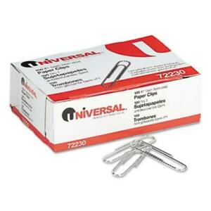 Universal Office Products 72230 Nonskid Paper Clips Wire No 1 Silver