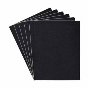 Fellowes Linen Presentation Covers Oversize Black 200 Pack 8 75 X 11 25