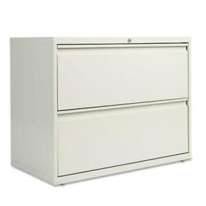 Alera Lf3629lg Two drawer Lateral File Cabinet 36w X 19 1 4d X 29h Light Gray