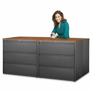 Lorell 3 drawer Putty Lateral Files 36 X 18 6 X 40 3 Steel 3 X File