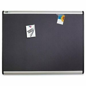 Quartet Magnetic Fabric Bulletin Board 24 Height X 36 Width Fabric Surface