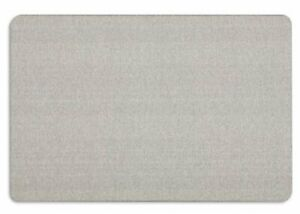 Quartet Oval Office Fabric Bulletin Board 24 Height X 36 Width Gray