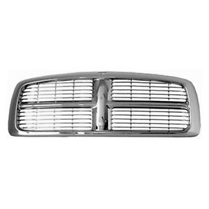New Grille Chrome Frame Front For Dodge Ram 1500 2500 3500 2002 2005 Ch1200261
