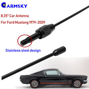 For 1979 09 Ford Mustang 8 25 Billet Black Stealth Steel Radio Antenna V6 V8 Gt