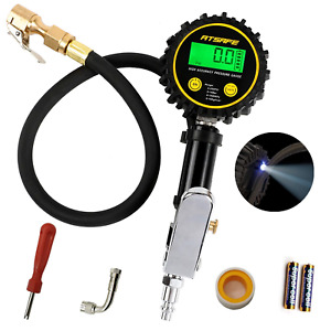 Atsafe Digital Tire Inflator With Pressure Gauge And Back Night Led Light Duty