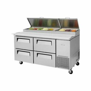 Turbo Air Tpr 67sd d4 n Super Deluxe Pizza Prep Table 4 Drawers