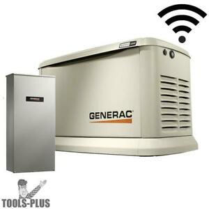 Generac 7043 Standby Generator 22kw Guardian Wifi 200a Auto Transfer Switch New
