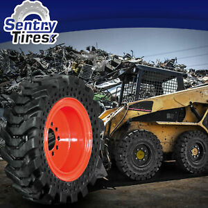 14x17 5 Solid Skid Steer Tires Set Of 4 With Wheels 14 17 5 For Bobcat