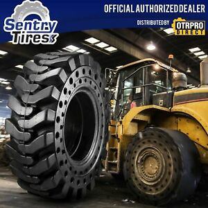14x17 5 Solid Skid Steer Tires Set Of 4 With Wheels 14 17 5 For Mustang